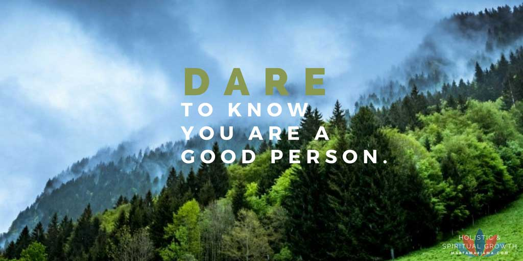 Know you are a Good person