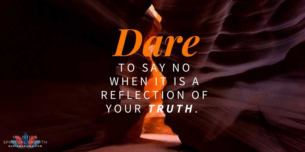 Say No when it is a reflection of your Truth